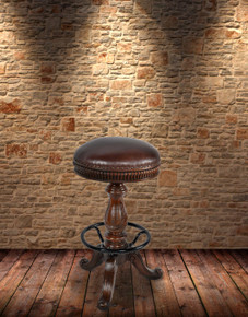 Church Street Leather Counter Height Stool
