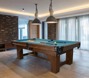 Bungalow Ash Wood Slate Top Pool Table