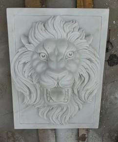 Hunan White Marble Lion Wall Art GE19541
