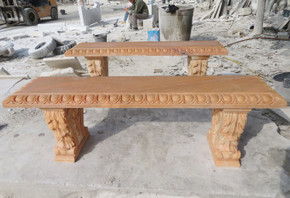 Gold Stone Marble Bench GE19665