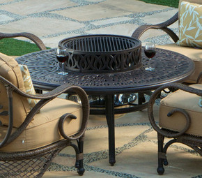 Grand Bonaire Weave Outdoor Fire Pit Table With Accessories
