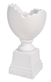 Broken Egg White Vase