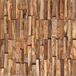 Reclaimed Teak Rustic Mosaic Wall Panel