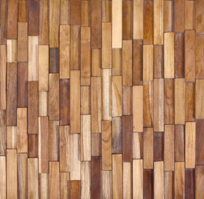 Reclaimed Teak Rectangular Mosaic Wall Panel