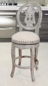 Mystique Gray Swivel Counter Stool
