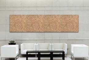 Natural Bamboo Mosaic 1 Meter Wall Deco