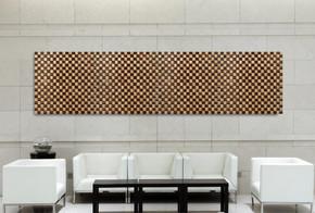 Bamboo Mosaic 2 Tone 1 Meter Wall Deco