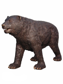 Bronze American Black Momma Bear Standing 72 Inches Long