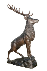 Bronze Stag On Base 75 Inches Tall