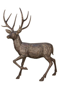 Bronze Buck Standing 62 Inches Long