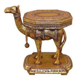 Side Table Camel Gold and Silver