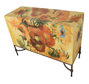 Sunflower Van Gogh Rectangular Chest on Stand