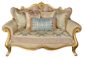 Canary Royale Beige Love Seat