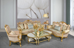 Canary Royale Beige Sofa Set of 3 (KIT)