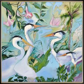 Nihonga Birds Framed