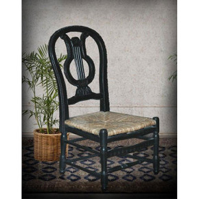 Lyre Side Chair   BK