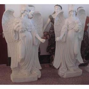 PairWhite Marble Angels