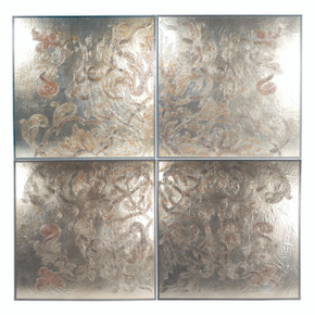 Silver Coramandel Large Wall Art Set 4