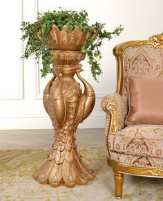Copper Drizzle Large Peacock Vase