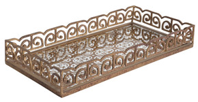 Etched Silouette Iron Tray