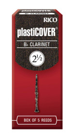 Rico Plasticover Bb Clarinet Reeds, Strength 2.5, 5-pack