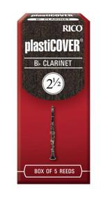Rico Plasticover Bb Clarinet Reeds, Strength 2.5, 5-pack