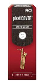 Rico Plasticover Baritone Sax Reeds, Strength 2.0, 5-pack