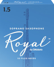 Rico Royal Soprano Sax Reeds, Strength 1.5, 10-pack