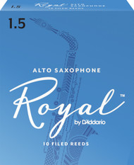 Rico Royal Alto Sax Reeds, Strength 1.5, 10-pack