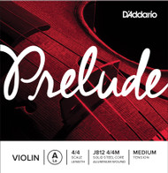 D'Addario Prelude Violin A String 4/4 Scale, Medium Tension