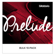 D'Addario Prelude Violin String Set, 4/4 Scale Medium J810 4/4M Bulk 10 sets