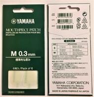 Yamaha Clear 0.3mm Mouthpiece Patch 6/pack  YAC MPPA3M3