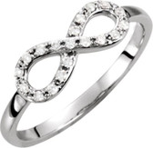 14k 1/8 CTW Diamond Infinity Ring