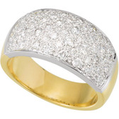14kt Two-Tone 1 CTW Diamond Micro Pave Ring Size 6
