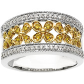 14kt Two-Tone 3/8 CTW Diamond Band Size 7