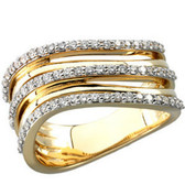 14kt Two-Tone 1/2 CTW Diamond Ring Size 9.5