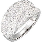 14kt White 1 1/5 CTW Diamond Pavé Ring