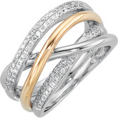 14kt White & Yellow 1/3 CTW Diamond Ring