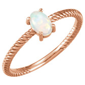 14kt Rose Opal Cabochon Ring