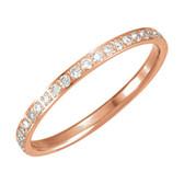 14kt Rose 3/8 CTW Diamond Eternity Band Size 6