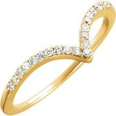 "14kt Yellow 1/6 CTW Diamond ""V"" Ring"