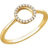 14kt Yellow 1/10 CTW Diamond Circle Ring