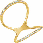 14kt Yellow 1/5 CTW Diamond Freeform Ring
