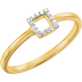 14kt Yellow .06 CTW Diamond Square Stackable Ring