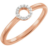 14kt Rose .06 CTW Diamond Circle Stackable Ring