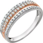14kt White & Rose 3/8 CTW Diamond Ring