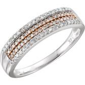 14kt White & 14kt Rose Gold Plated 1/4 CTW Diamond Ring