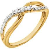 14kt Yellow & White 1/5 CTW Diamond Ring