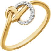 14kt Yellow .05 CTW Diamond Knot Ring