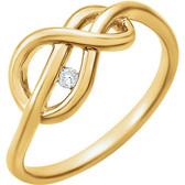 14kt Yellow .03 CTW Diamond Ring